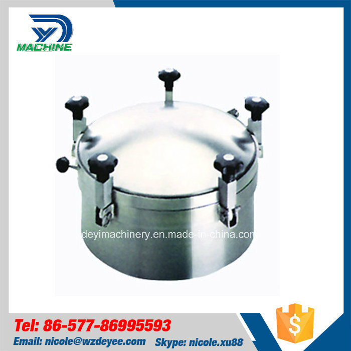 Hygienic Stainless Steel Circle Pressure Manhole Cover (DY-M038)