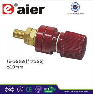 Black and Red Gold Binding Post Connector (JS-555B)