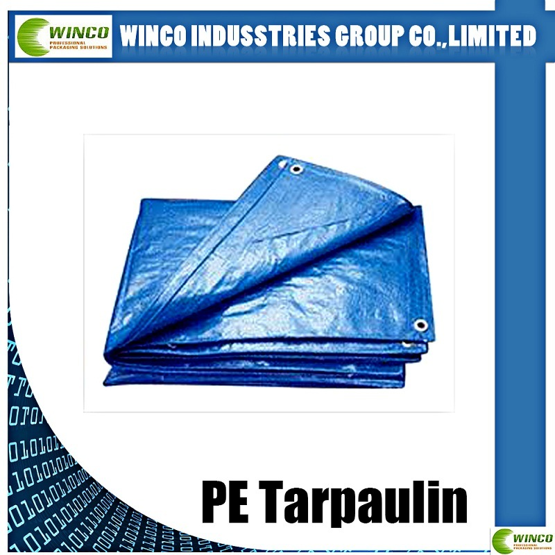 Hot Sale Waterproof Reinforced Readymade 6X12 PE Tarpaulin