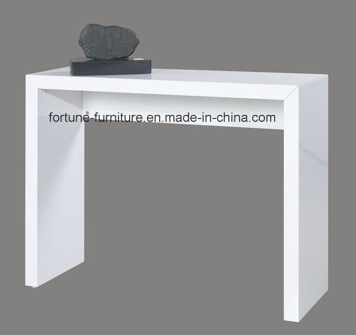 Modern Wooden High Gloss White Console Table (603B-01)