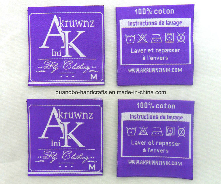 Fancy Custom Design Woven Labels Cloth Label