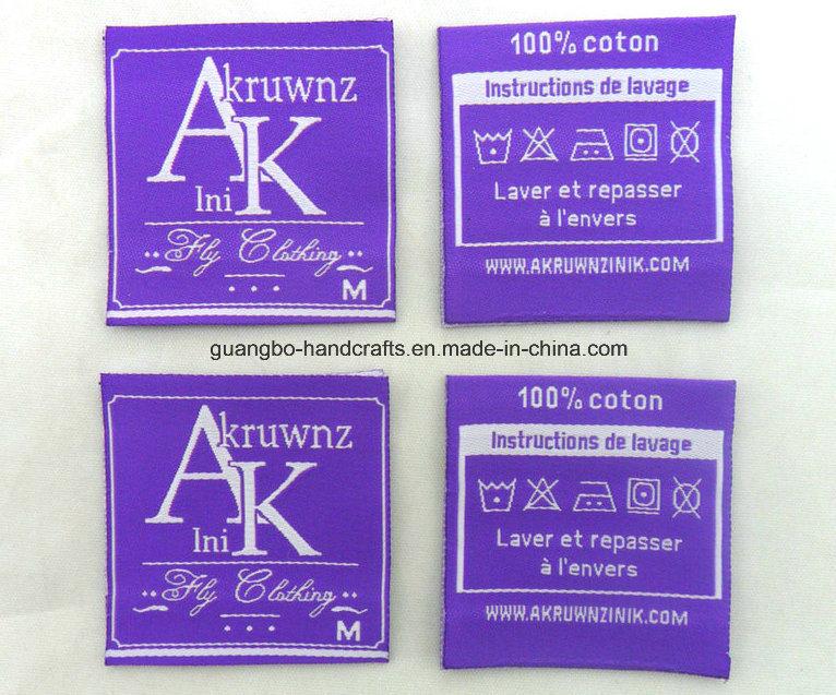 Fancy Custom Design Woven Labels Cloth Label