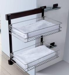 Wardrobe Closet Inside System Design Sliding Basket Drawer