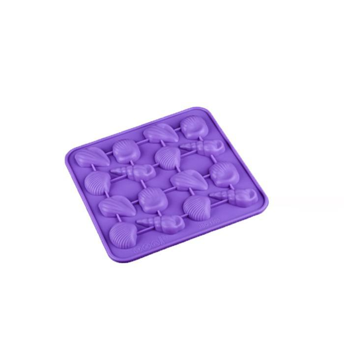 Random Color Silicone Ice Lattice Shells Ice Chocolate Biscuit Silicone Mold