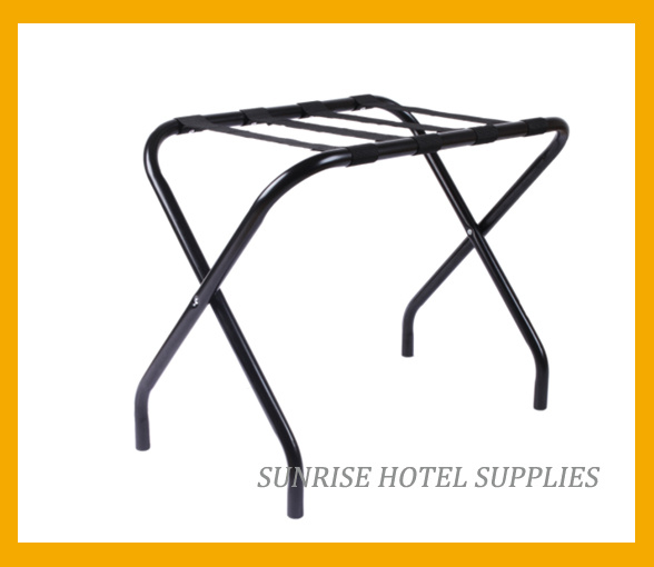 Hotel Metal Luggage Rack with Black Straps