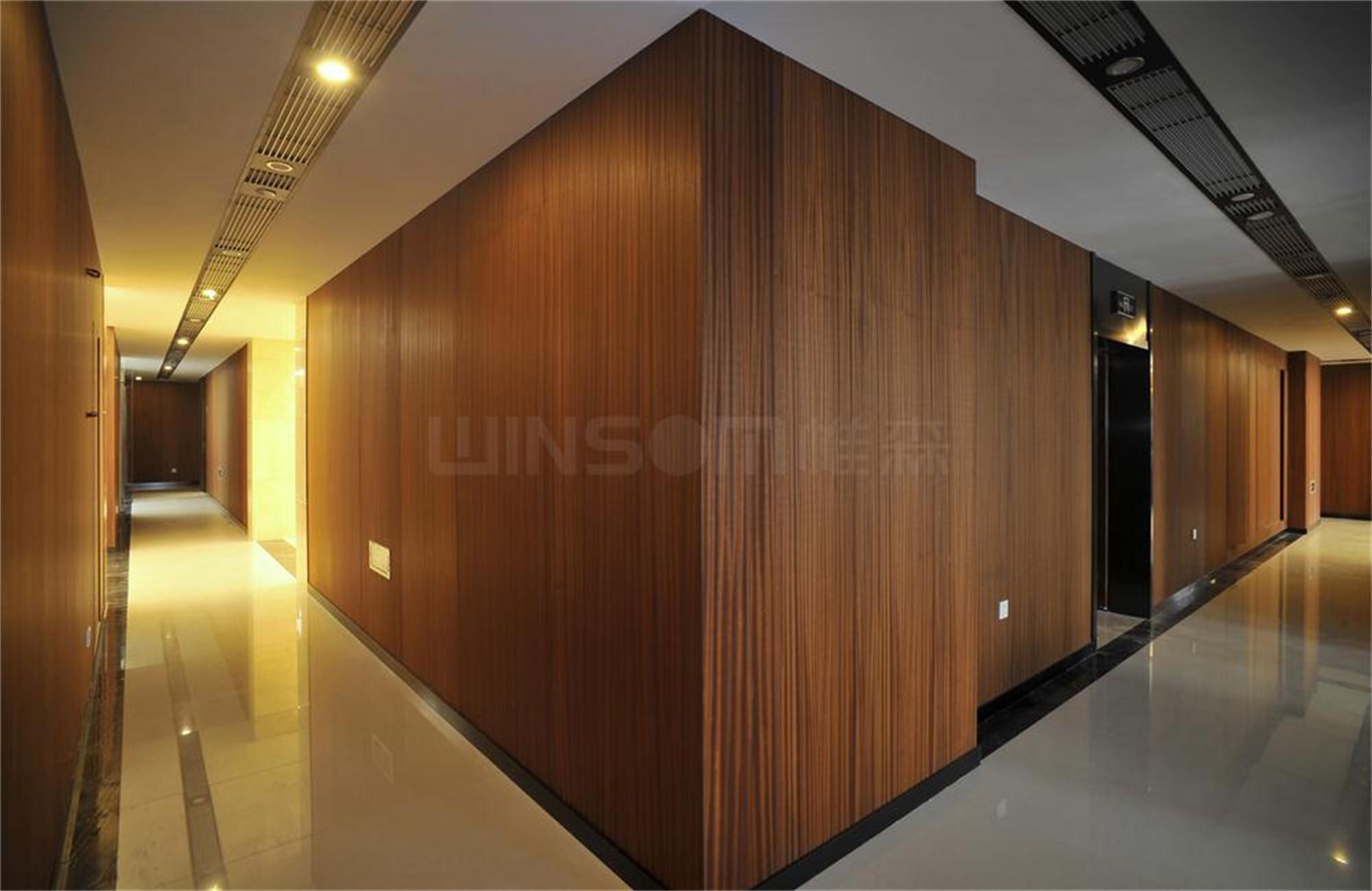 Wood wall cladding panels interior w decal