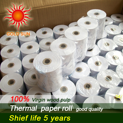 Wood Pulp Thermal Paper Thermal Paper Roll for ATM, POS