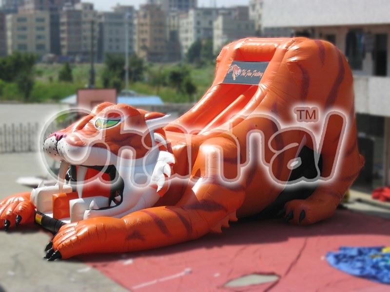 Inflatable Dry Slide Tiger Inflatable Slide for Commercial Use (CHSL103)