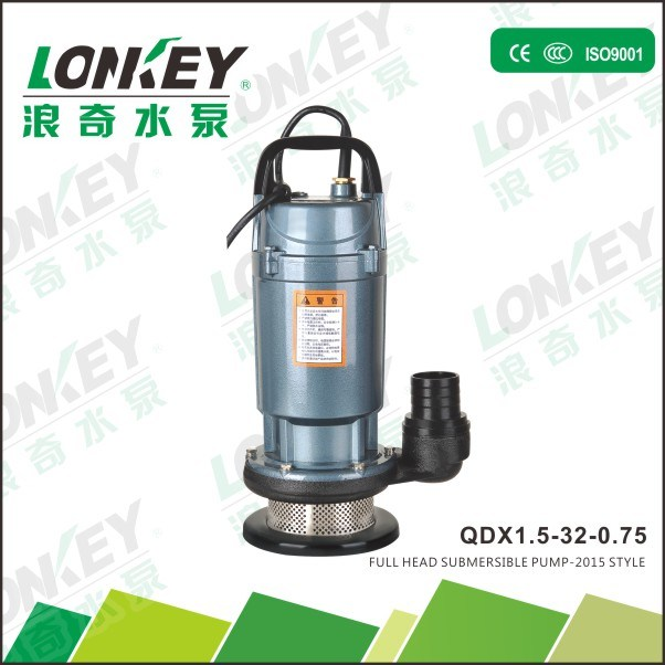 1HP 32m Head Submersible Water Pump Qdx Series with Ce