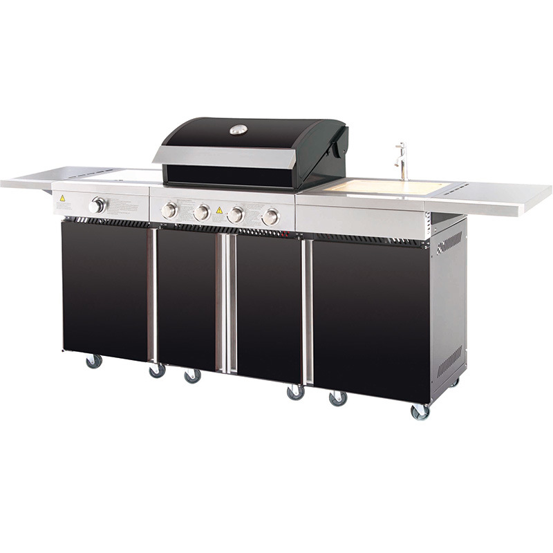 Outdoor Gas Grill Barbeque Kitchen with Sink