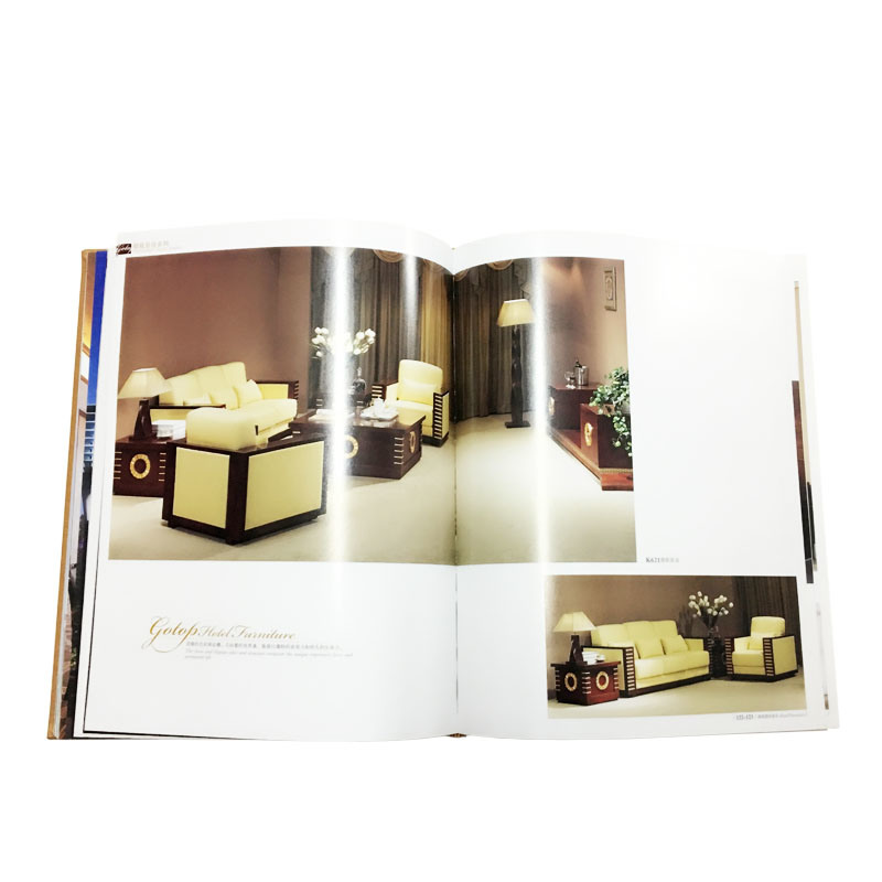 High Quality Company Hardcover Catalogue with Hot Stamping