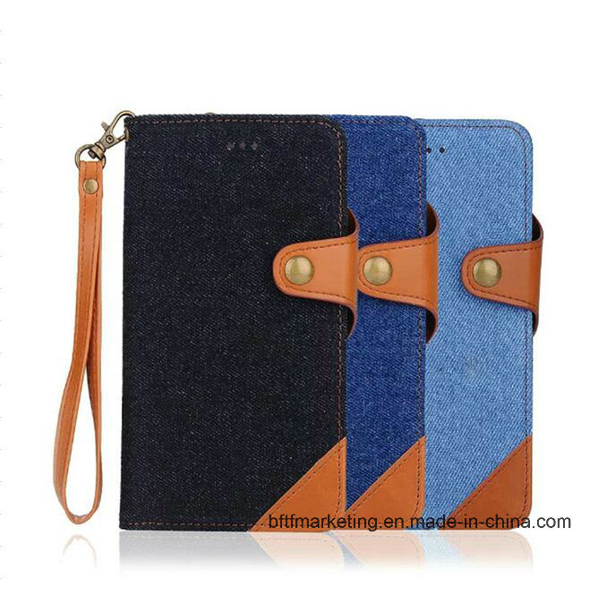 Detachable Jeans 2in1 Leather Wallet Phone Case for iPhone 7 and 7 Plus