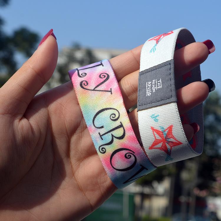 Special Design Custom Logo Athletic Elastic Wristbands