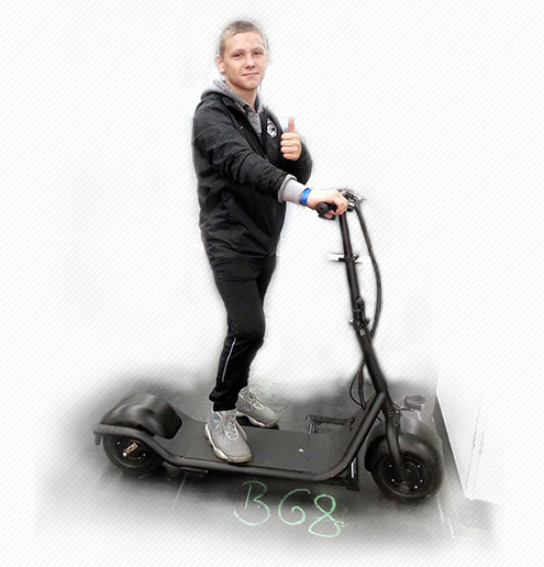 Electric Motor Scooter with 350W 48V/10ah Lithium Battery