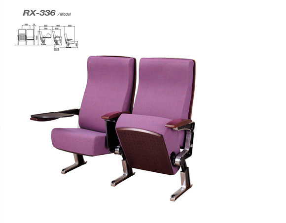 Wooden Armrest Meeting Room Chair with Writing Pad (RX-336)