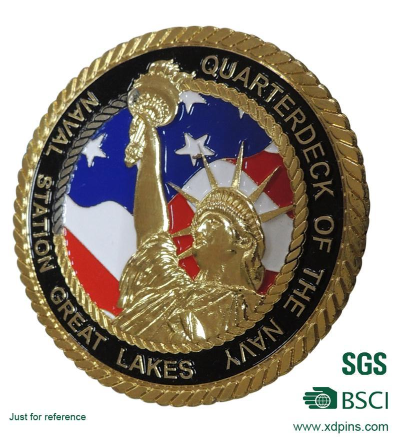 Custom Metal Statue of Liberty Coin for Souvenir