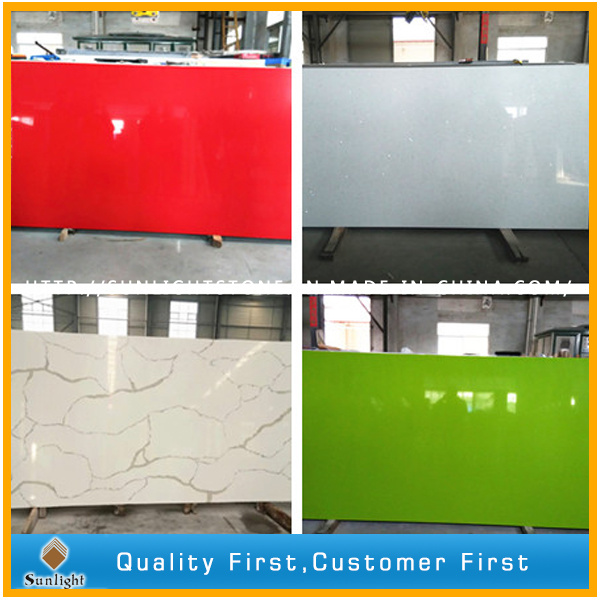 Pure/Yellow/Black/Grey/White/Crystal/Pink/Green/Red/Sparkles Artificial Quartz Stone Slabs/Quartz Stone Producer