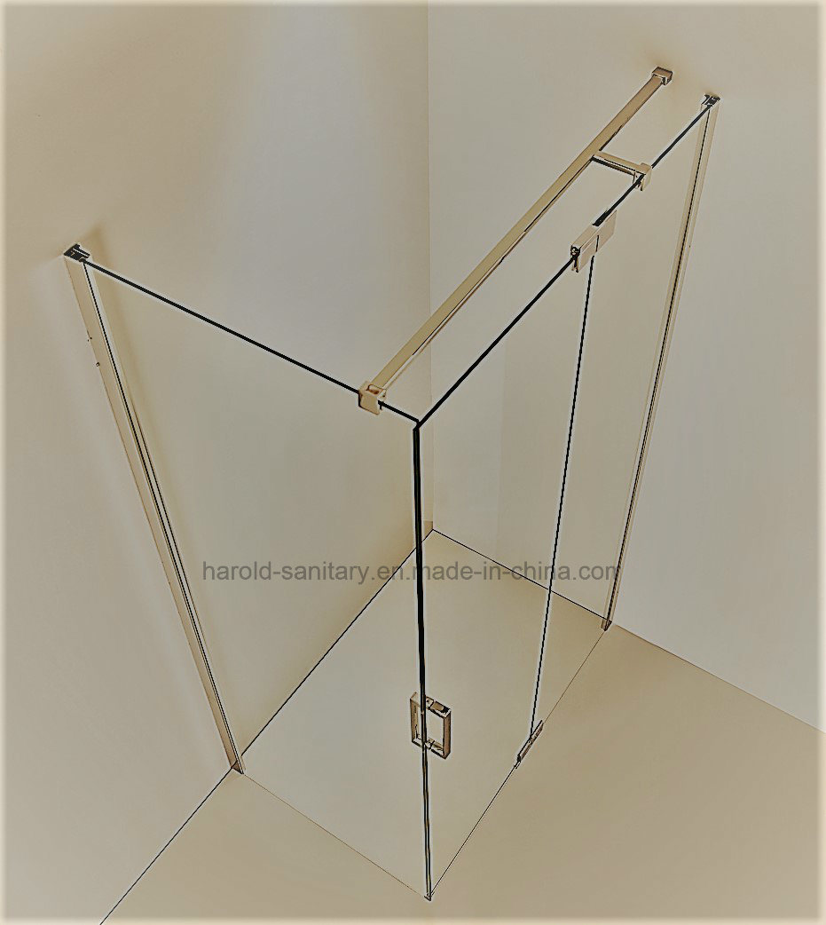 Hr-03 Pivot Hinge Open 8-10mm SGCC Tempered Glass Shower Screen