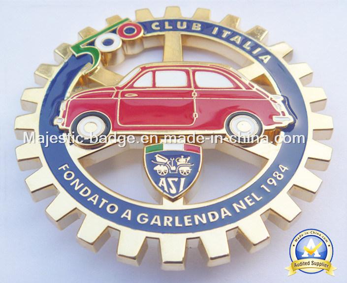 Hard Enamel Gold Plated Car Badge