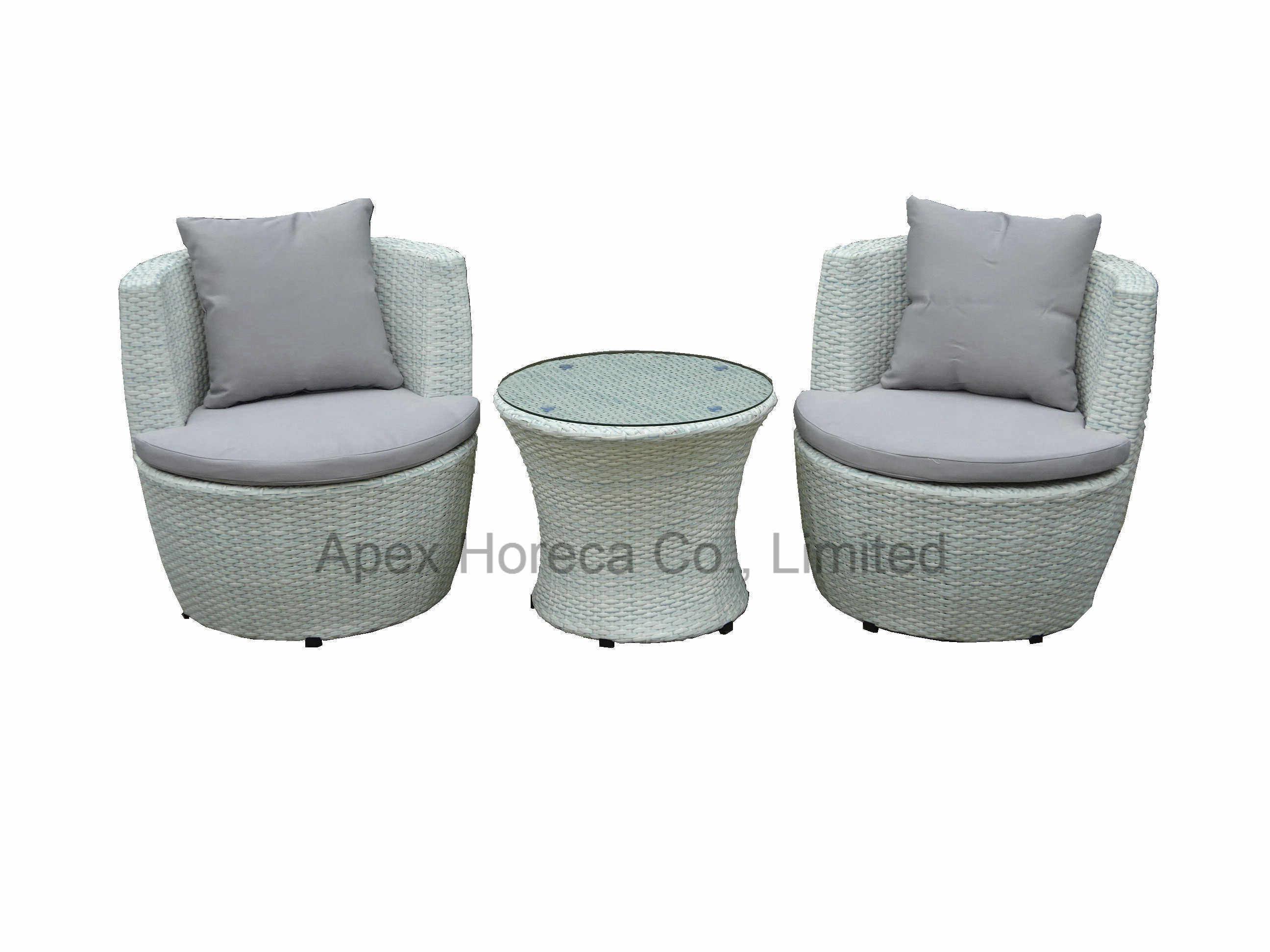 Balcony Wicker Sofa Set Outdoor Furniture Rattan Garden Furniture Lounge Sofa