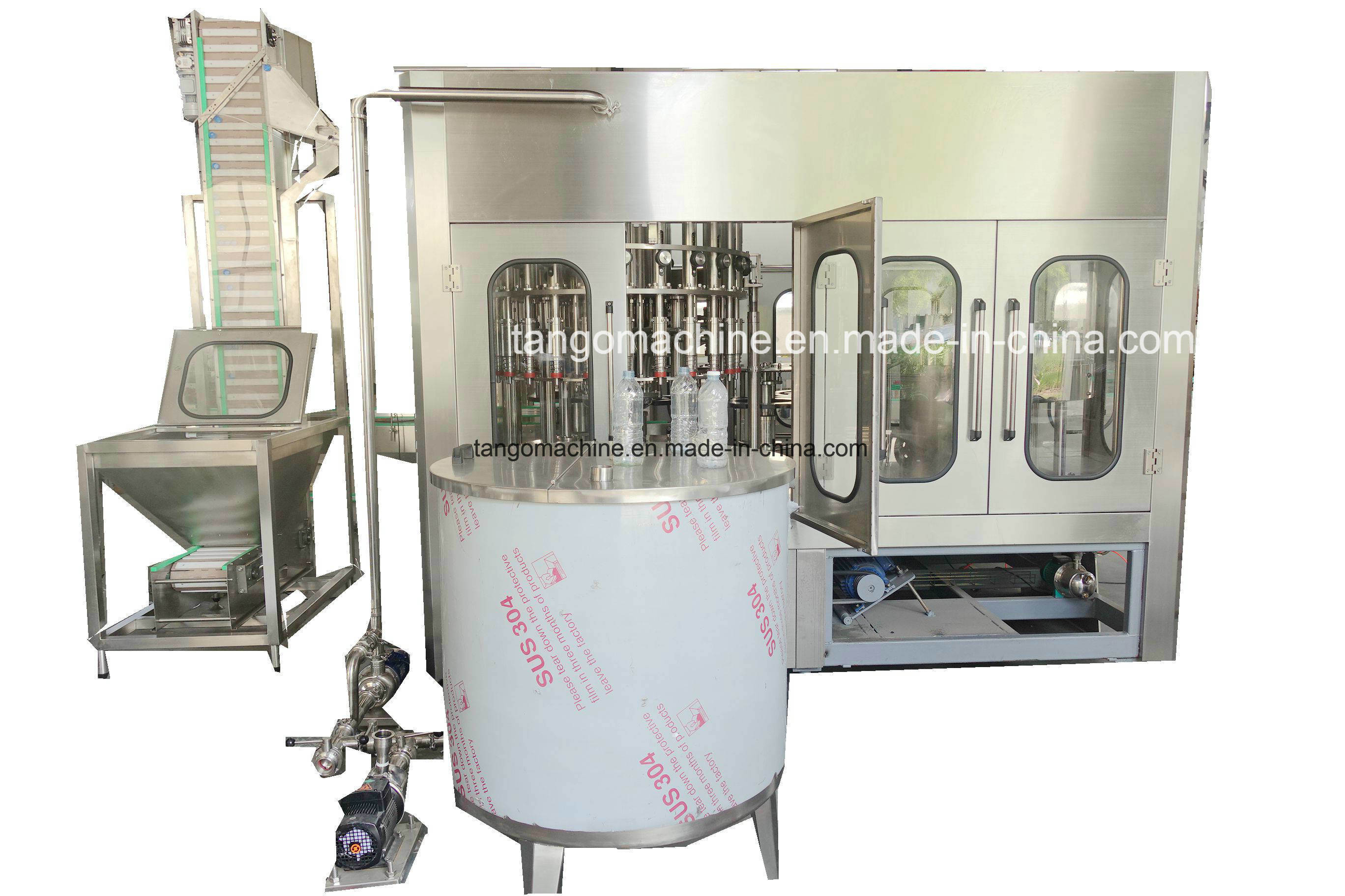 Automatic Juice with Pulp Hot Strawberry Drink Water Soda Carbonated Beverage Pet Bottle Filling Bottling Packaging Machine