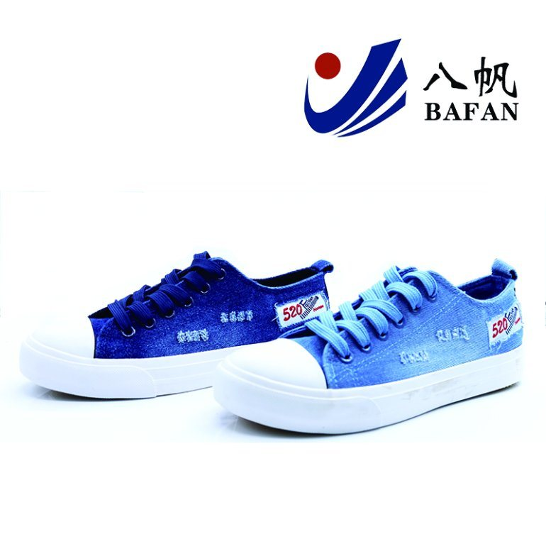 New Style Washed Denim Upper Canvas Shoes Bf1701280
