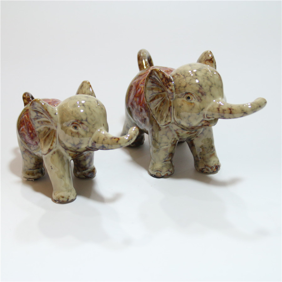 Ceramic Animal Elephant Home Office Decoration Furnishing
