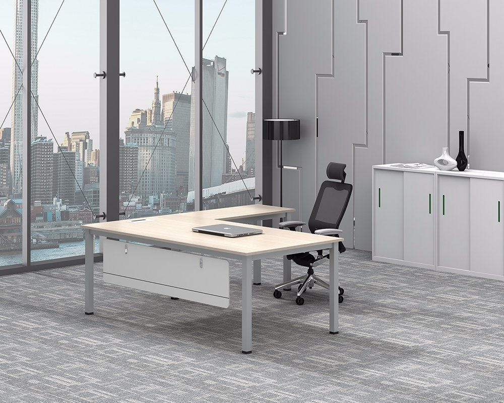 White Customized Metal Steel Office Executive Table Frame Ht25-501-2