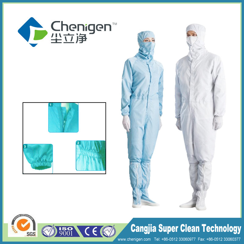 Cheap Working Garments ESD Coveralls with High Quality Conductive Fiber ESD Garment