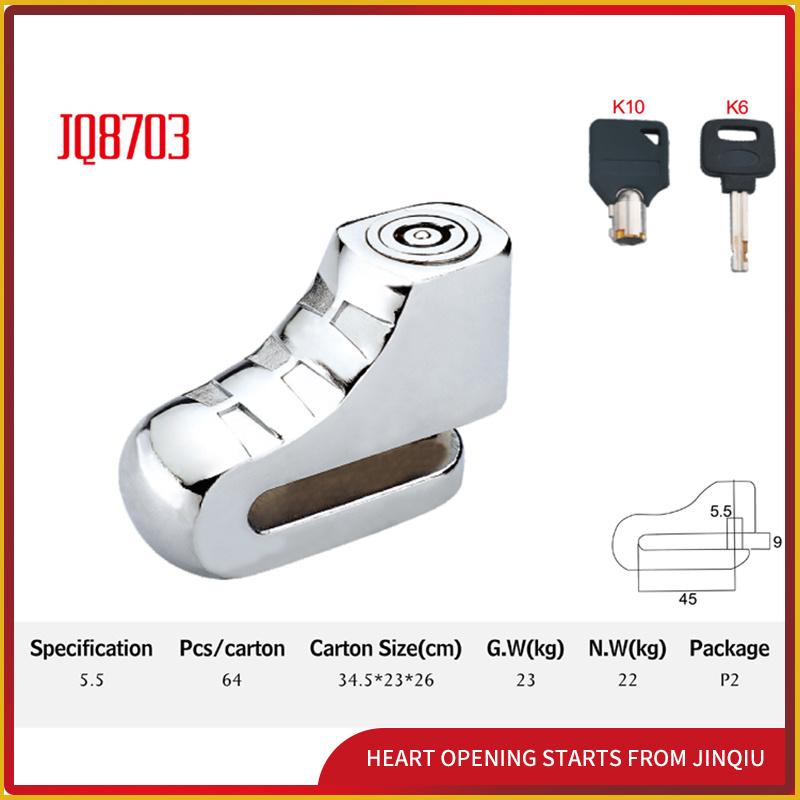 Jq8703 Popular Bicycle Lock Motorcycle Disk Lock Security Lock