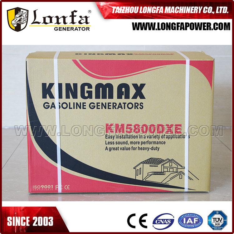 5kw/5kVA Kingmax Air-Cooled Power Gasoline/Petrol Generator Set