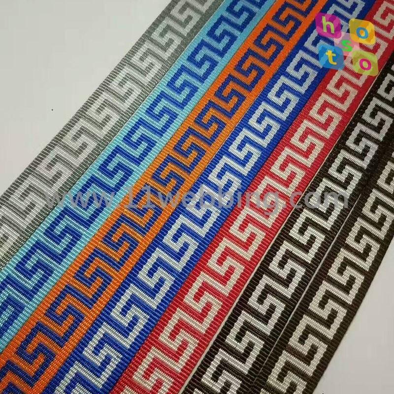 2017 Hot Sale Nylon Jacquard Webbing for Garment Ornament Accessories
