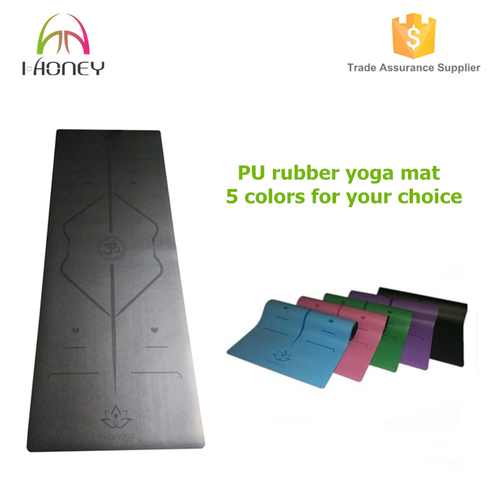 High End Yoga Mat 1/5-Inch Extra Thick PU Leather Yoga Mat-Non Slip and Durable, Mat for Yoga, Dance, Pilates & Fitness