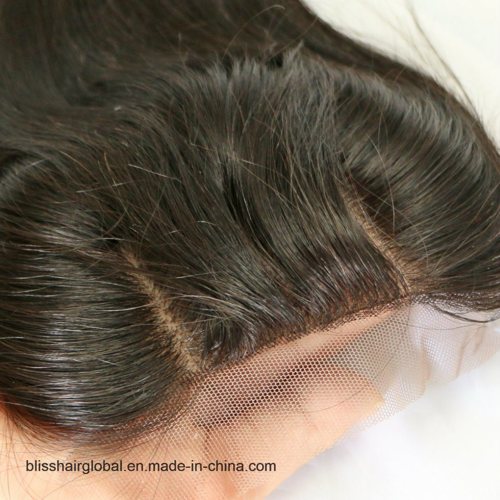 Bliss Hair 4X4 Lace Silk Base Closure Three/Free/Middle Part Top Swiss Silk Base Lace Closure Straight Peruvian Virgin Human Hair Closures Pieces