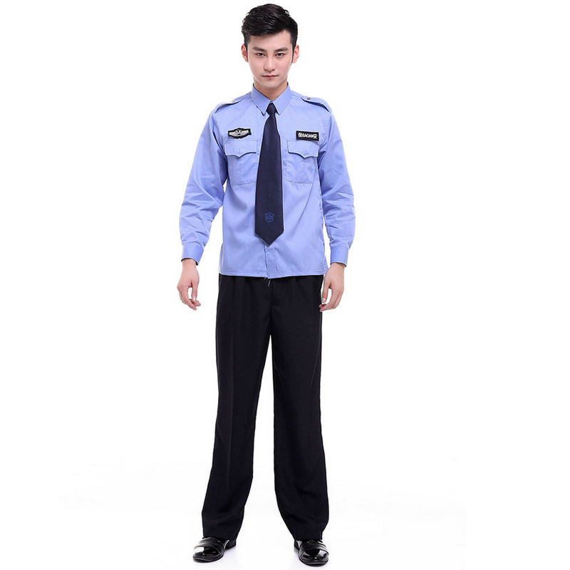 Spring Polyester and Cotton Workwear Security Guard Uniform for Guard