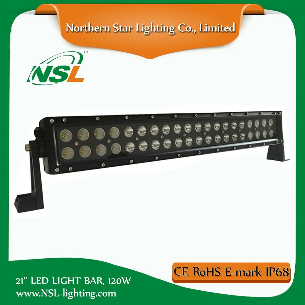 "E-MARK 21"" LED Light Bar 36months Waterproof Spot Flood Combo for Jeep ATV SUV Driving Truck Light Bar"