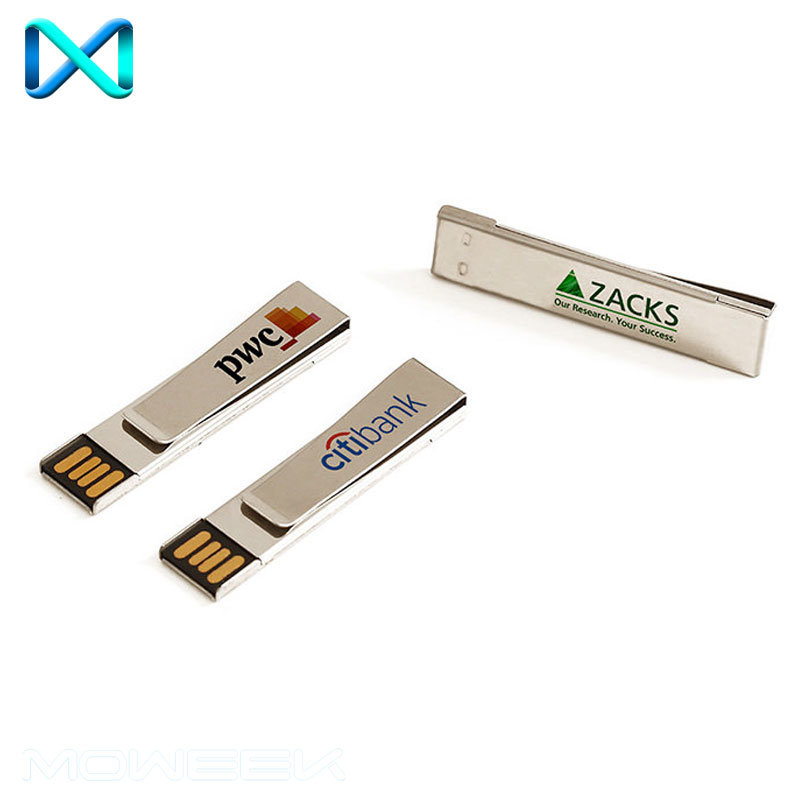Popular Metal Paper Clip Stick USB Flash Driver