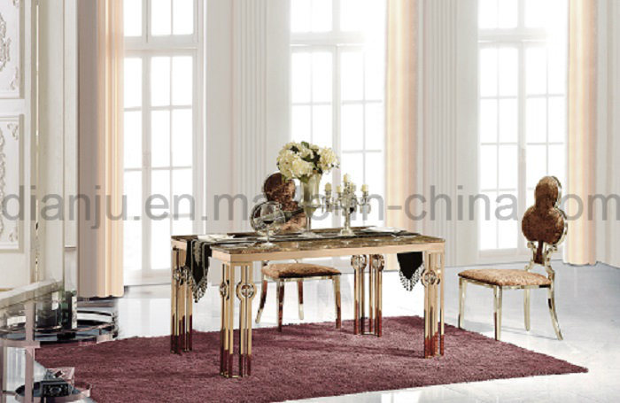 Rose Gold Marble Simple Dining Table Hot Sale (A8021)