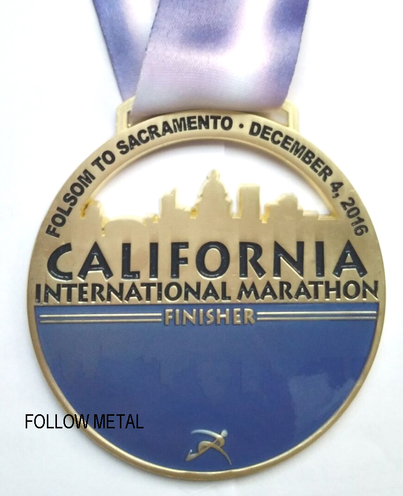 Medal for International Marathon with High-Quality Exquisite Craft, California