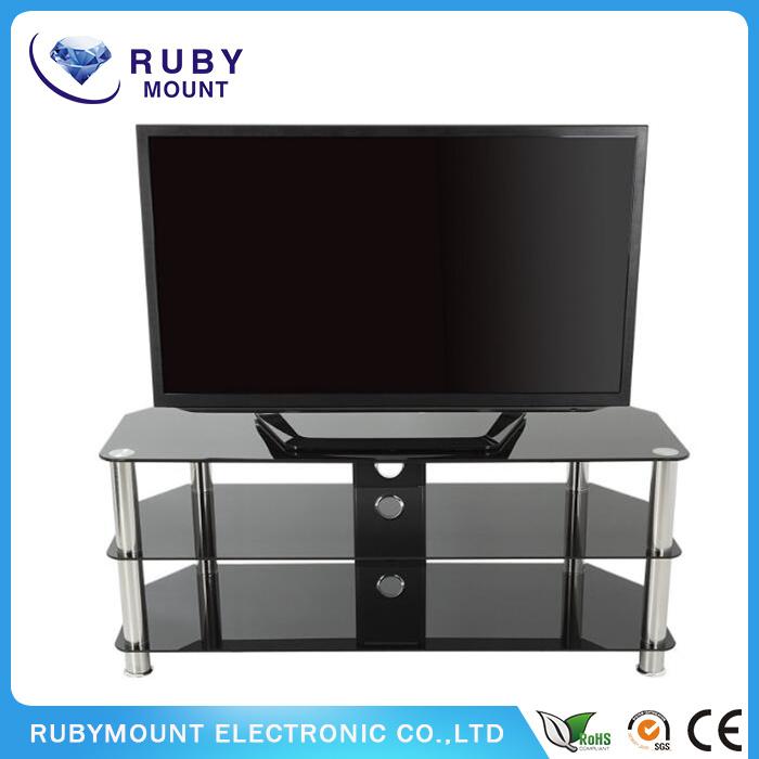 Tempered Glass Living Room Furniture TV Stand DVD Bracket