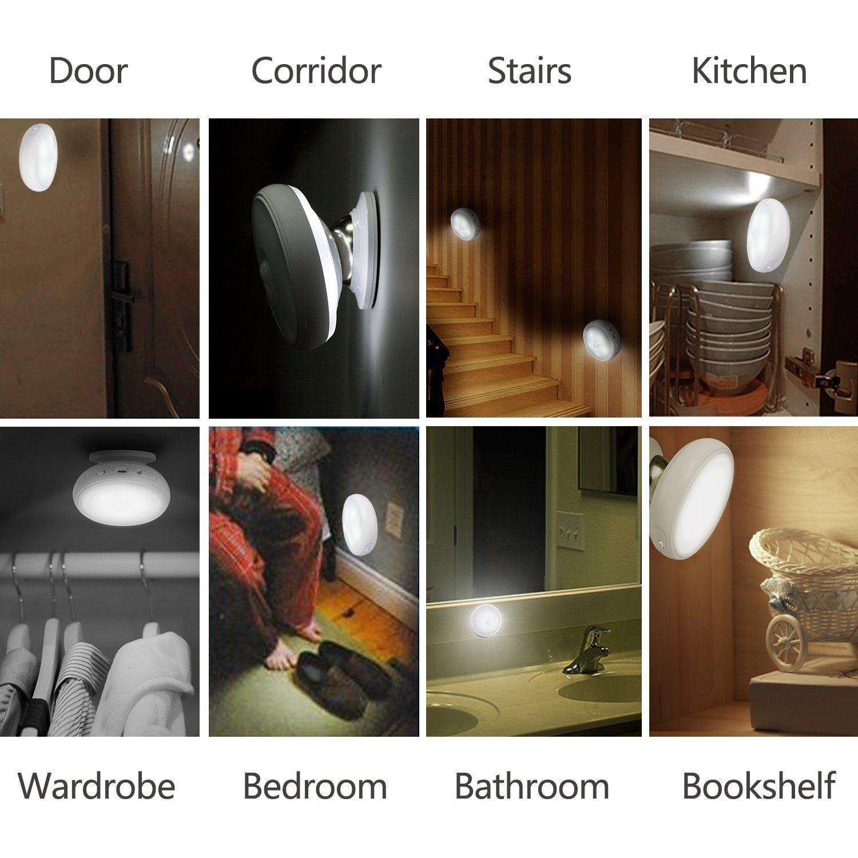 High Quality 360 Degree Night Lamp, USB Charge LED Human Body Sensor Night Light, Rotating Body Sensor Night Light