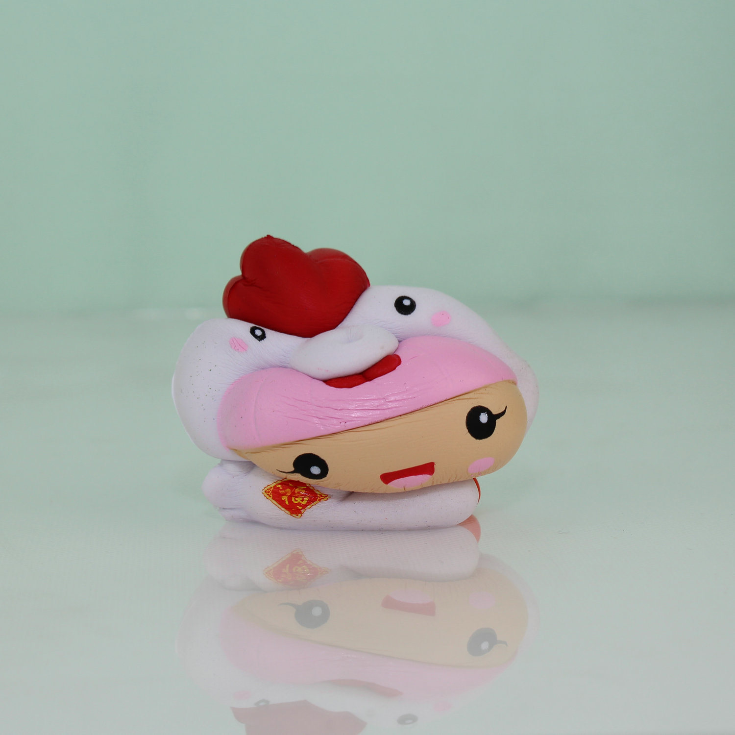 New Arrival White Chick Model Squishy PU Children Toy