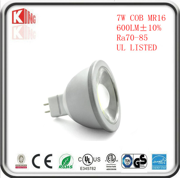 High Quality 7W 630lm MR16 LED Dimmable 12V Lights Lamps