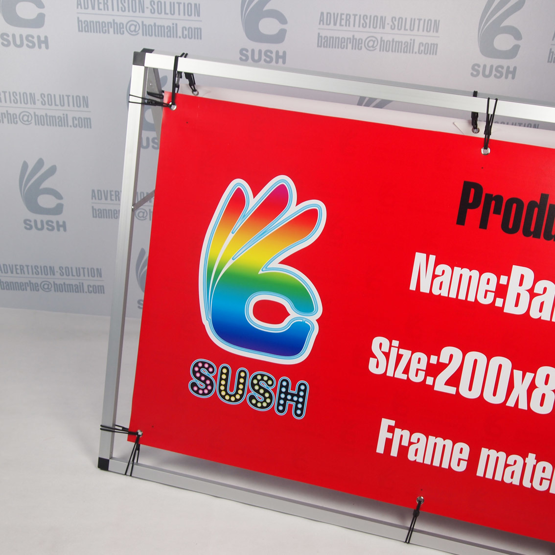 Outside Display Banner Stand Ad Board Stand