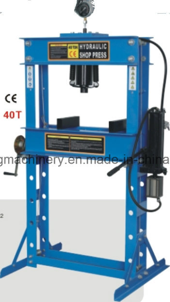 50ton Pneumatic/Hydraulic Shop Press with Gauge