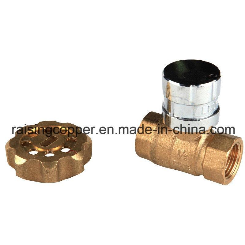 Brass Magnetic Lockable Ball Valve BS21 Standard