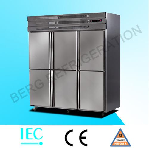 4 Door Vertical Stainless Steel Refrigerator