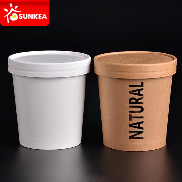 475ml 650ml Double Wall Ripple Kraft Paper Soup Cup