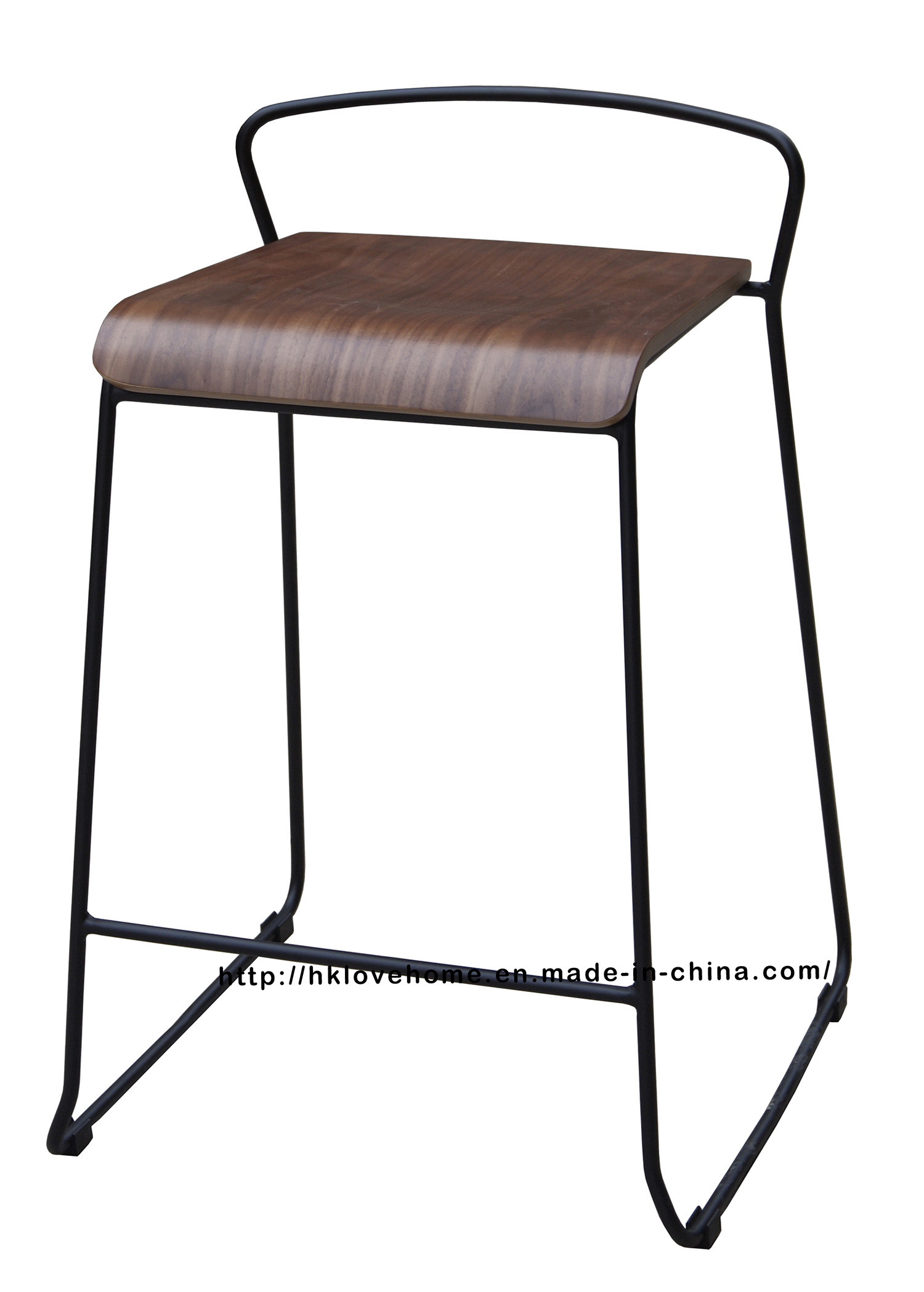 Modern Steel Furniture Wooden Counter Bar Stool