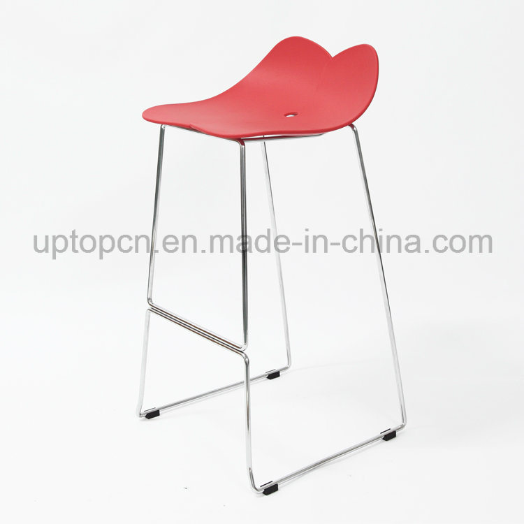 Color Optional Plastic High Bar Chair with Chrome Steel Chair Base (SP-UBC325)